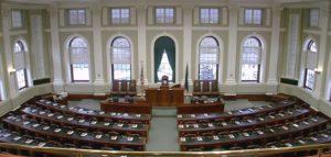 Photo of the Maine legislative chamber
