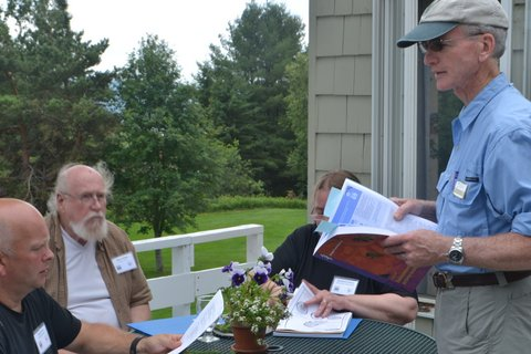 Photo of UMaine's Bill Patterson leading a lesson about SBW for Project Learning Tree.