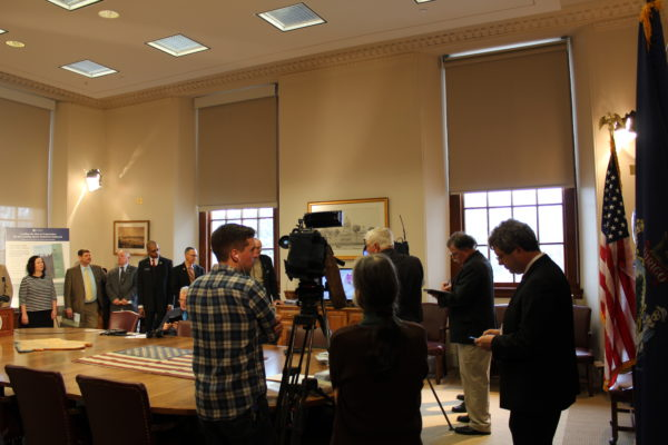 Photo of SBW Task Force news conference