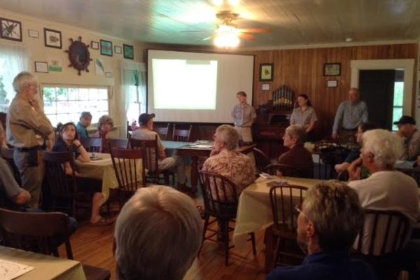 Photo of spruce budworm forum in Lee, ME.