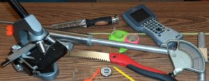 Photo of a variety of tools used for forest research